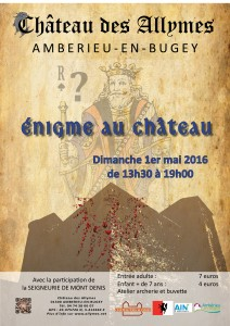 Affiche énigme château mai 2016